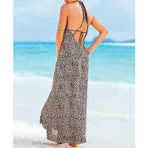 Victoria's Secret Leopard Cover-Up Maxi Dress